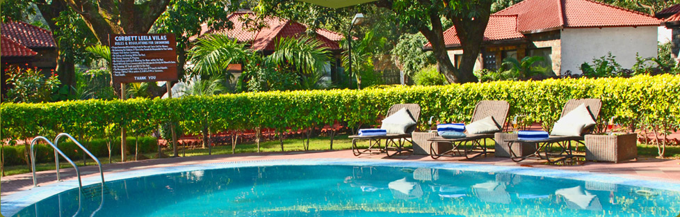 Swimming Pool Resort in Jim Corbett